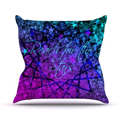 Reach For The Stars by Ebi Emporium Throw Pillow Size: 18 H x 18 W x 3 D