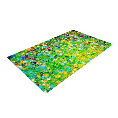 Ebi Emporium Holiday Cheer Yellow/Green Area Rug Rug Size: 4 x 6