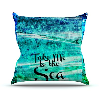 Take Me to the Sea by Ebi Emporium Glitter Throw Pillow Size: 26 H x 26 W x 5 D