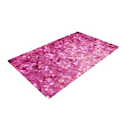 Ebi Emporium Romance Me Glitter Pink Area Rug Rug Size: 4 x 6