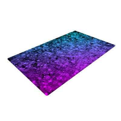 Ebi Emporium Romance Me at Midnight Teal/Blue Area Rug Rug Size: 4 x 6