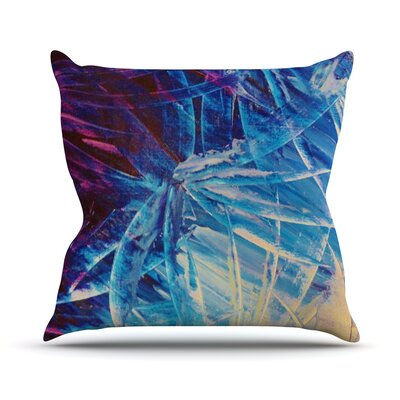 Night Flowers by Ebi Emporium Throw Pillow Size: 26 H x 26 W x 5 D