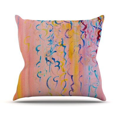 Candy Whispers by Ebi Emporium Throw Pillow Size: 16 H x 16 W x 3 D