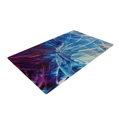 Ebi Emporium Night Flowers Blue/Red Area Rug Rug Size: 2 x 3
