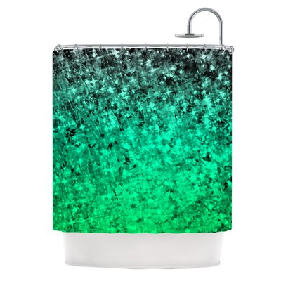 Ebi Emporium Romance Me Green Shower Curtain