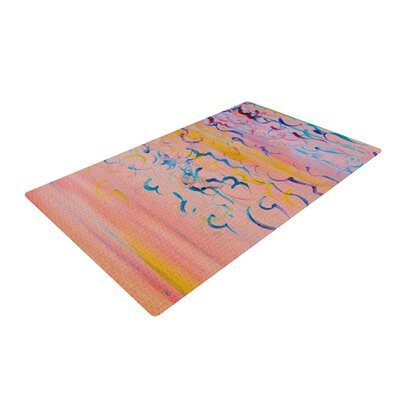 Ebi Emporium Cotton Candy Whispers Painting Pink Area Rug Rug Size: 2 x 3