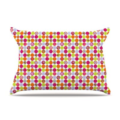 Happy Circles by Julia Grifol Featherweight Pillow Sham Size: King, Fabric: Woven Polyester