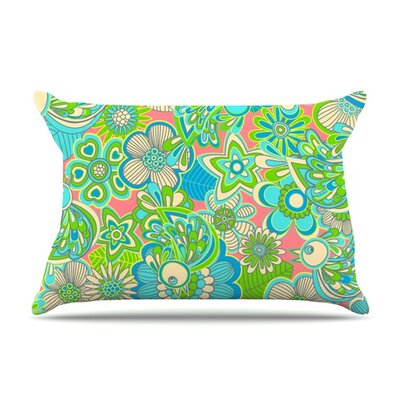Welcome Birds to my Garden by Julia Grifol Featherweight Pillow Sham Size: King, Fabric: Woven Polyester