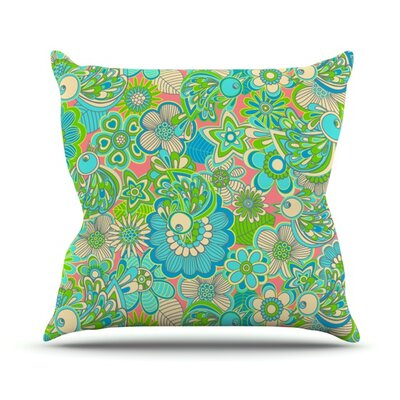 Welcome Birds To My Garden Throw Pillow Size: 20 H x 20 W 4.5 D