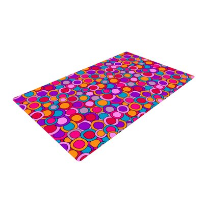 Julia Grifol My Circles Pink/Purple Area Rug Rug Size: 2 x 3