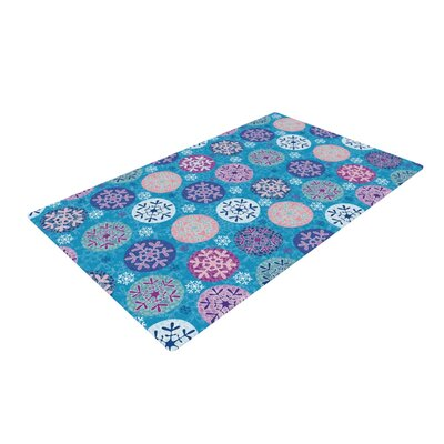 Julia Grifol Floral Winter Blue/Purple Area Rug Rug Size: 4 x 6