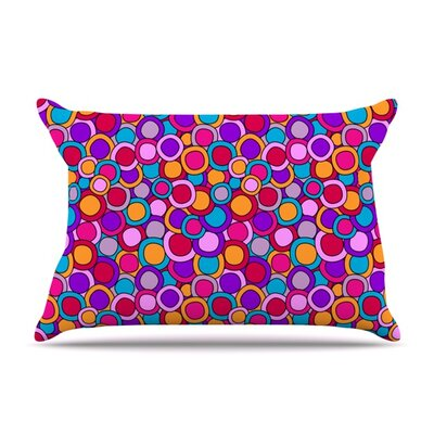 My Colourful Circles by Julia Grifol Featherweight Pillow Sham Size: King, Fabric: Woven Polyester