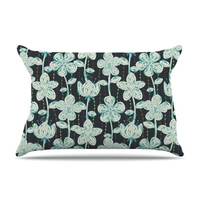 My Gray Spotted Flowers by Julia Grifol Featherweight Pillow Sham Size: Queen, Fabric: Woven Polyester