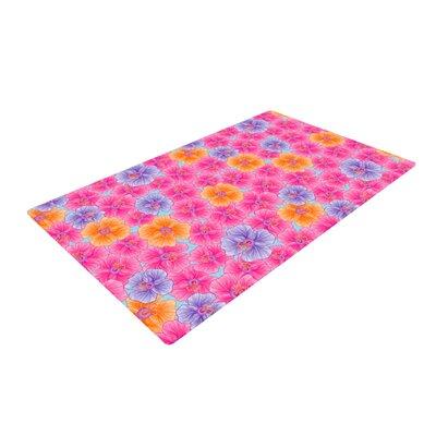 Julia Grifol My Garden Pink/Purple Area Rug Rug Size: 4 x 6