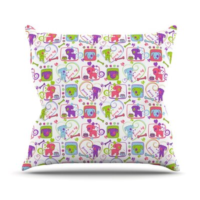 My Loving Dogs by Julia Grifol Throw Pillow Size: 16 H x 16 W x 3 D