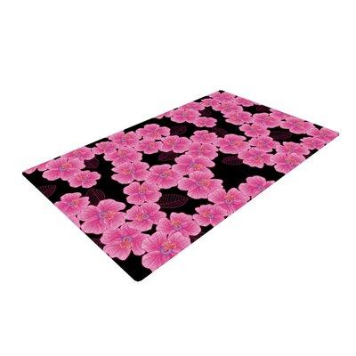 Julia Grifol Pink/Black Area Rug Rug Size: 2 x 3