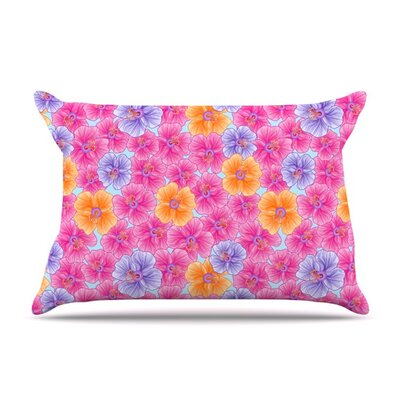 My Pink Garden by Julia Grifol Featherweight Pillow Sham Size: King, Fabric: Woven Polyester