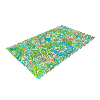 Julia Grifol Welcome Birds to My Garden Green/Yellow Area Rug