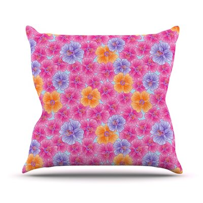 My Garden by Julia Grifol Throw Pillow Size: 16 H x 16 W x 3 D