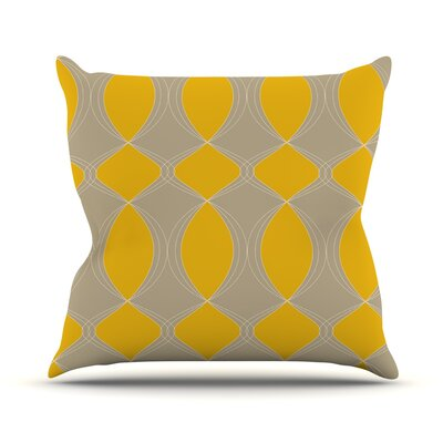 Geometries by Julia Grifol Throw Pillow Size: 16
