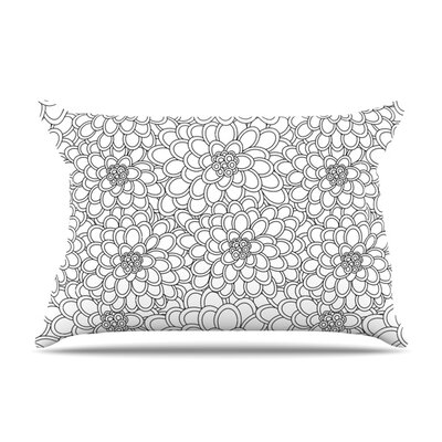 White Flowers by Julia Grifol Featherweight Pillow Sham Size: King, Fabric: Woven Polyester