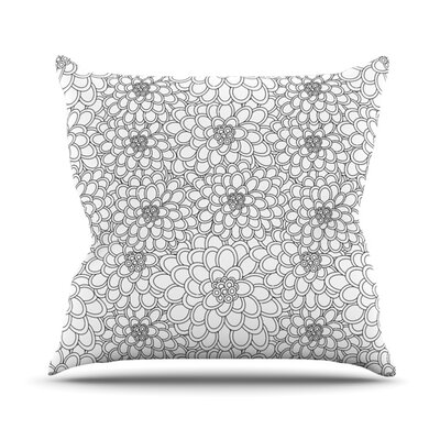 Flowers Throw Pillow Size: 16 H x 16 W x 3.7 D