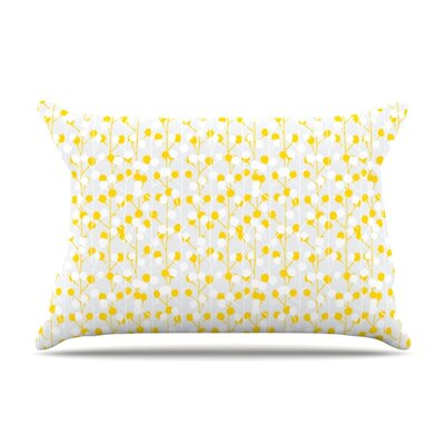 Lemon Drop by Julie Hamilton Featherweight Pillow Sham Size: King, Fabric: Woven Polyester