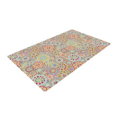 My Happy Flowers in Red Novelty Area Rug Rug Size: 2 x 3