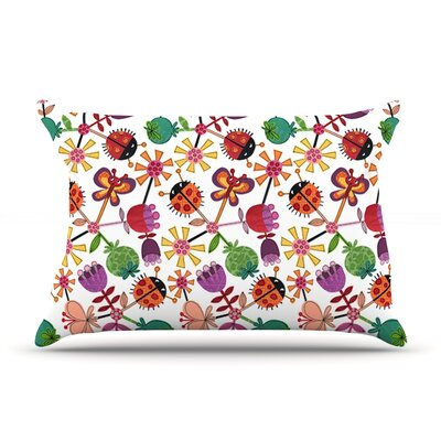 Jane Smith Garden Floral Plants Bugs Pillow Case
