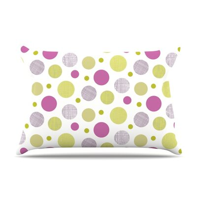 Rhapsody Dot by Julie Hamilton Featherweight Pillow Sham Size: King, Fabric: Woven Polyester