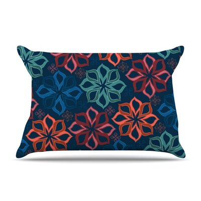 Floral Charm by Jolene Heckman Featherweight Pillow Sham Size: Queen, Fabric: Woven Polyester