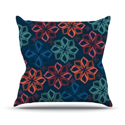Floral Charm by Jolene Heckman Flowers Throw Pillow Size: 16 H x 16 W x 3 D
