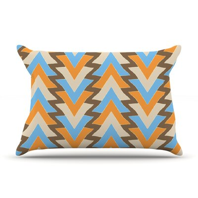 Julia Grifol My Triangles Pillow Case Color: Blue/Aqua