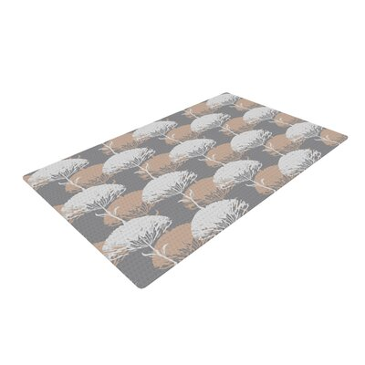 Julia Grifol Charming Tree Gray/White Area Rug Rug Size: Rectangle 4 x 6