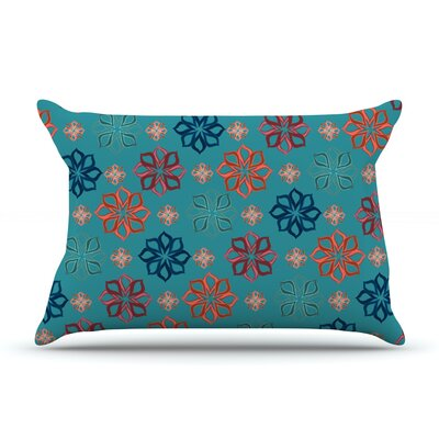 Turquoise Mini by Jolene Heckman Featherweight Pillow Sham Size: King, Fabric: Woven Polyester