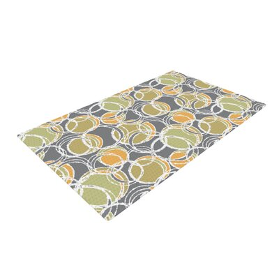 Julia Grifol Simple Circles Gray Area Rug Rug Size: 4 x 6