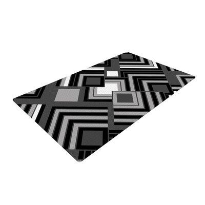 Jacqueline Milton Luca Monochrome Black/White Area Rug Rug Size: 4 x 6