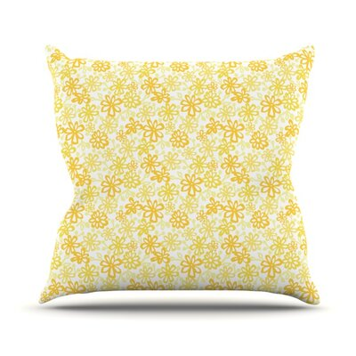 Paper Daisy by Julie Hamilton Throw Pillow Size: 18 H x 18 W x 3 D