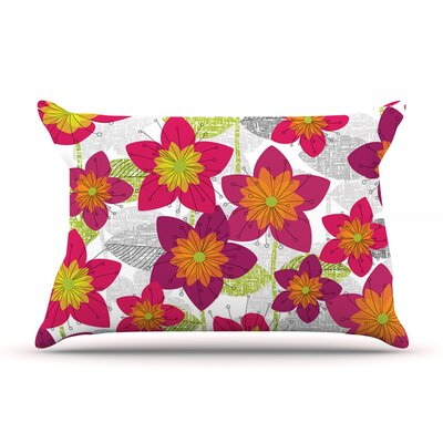 Star Flower by Jacqueline Milton Featherweight Pillow Sham Size: King, Fabric: Woven Polyester