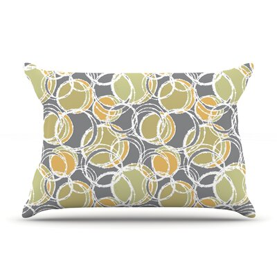 Julia Grifol Simple Circles In Grey Pillow Case
