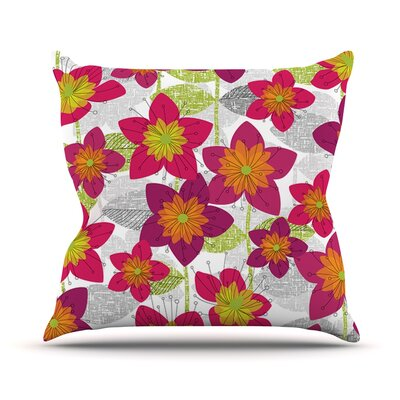 Star Flower by Jacqueline Milton Floral Throw Pillow Size: 18 H x 18 W x 3 D
