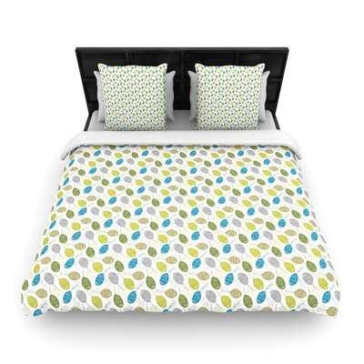 Tangled Teal Woven Comforter Duvet Cover Size: King