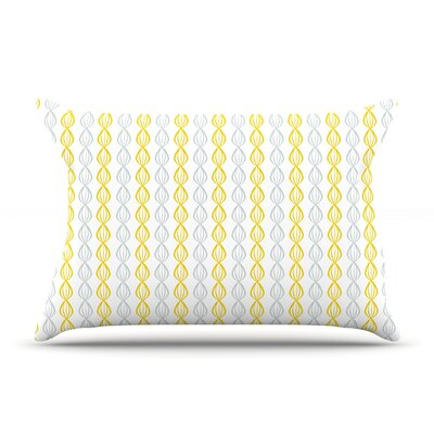 Lemon Pod by Julie Hamilton Featherweight Pillow Sham Size: Queen, Fabric: Woven Polyester