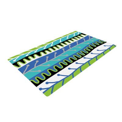 Jacqueline Milton Salsa Green/Blue Area Rug Rug Size: 2 x 3