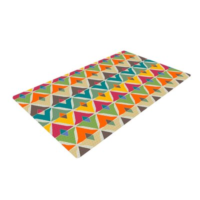 Julia Grifol My Diamond Green/Orange Area Rug Rug Size: 4 x 6