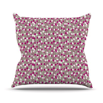 Wineberry by Julie Hamilton Throw Pillow Size: 18 H x 18 W x 3 D