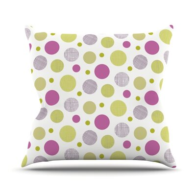 Rhapsody Dot by Julie Hamilton Throw Pillow Size: 16 H x 16 W x 3 D