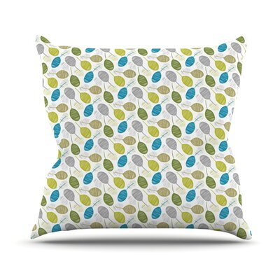 Tangled Teal Outdoor Throw Pillow Size: 16 H x 16 W x 3 D