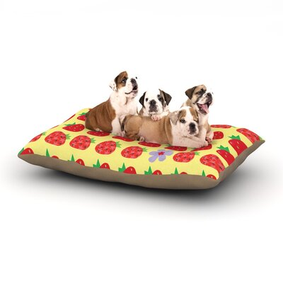 Jane Smith Seasons Summer Dog Pillow with Fleece Cozy Top Size: Large (50 W x 40 D x 8 H)