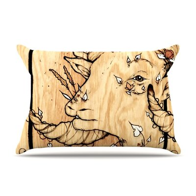 Ram by Jennie Penny Featherweight Pillow Sham Size: King, Fabric: Woven Polyester